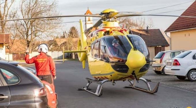 Mentőhelikoptert riasztottak: barátai küzdöttek a 30 éves férfi életéért