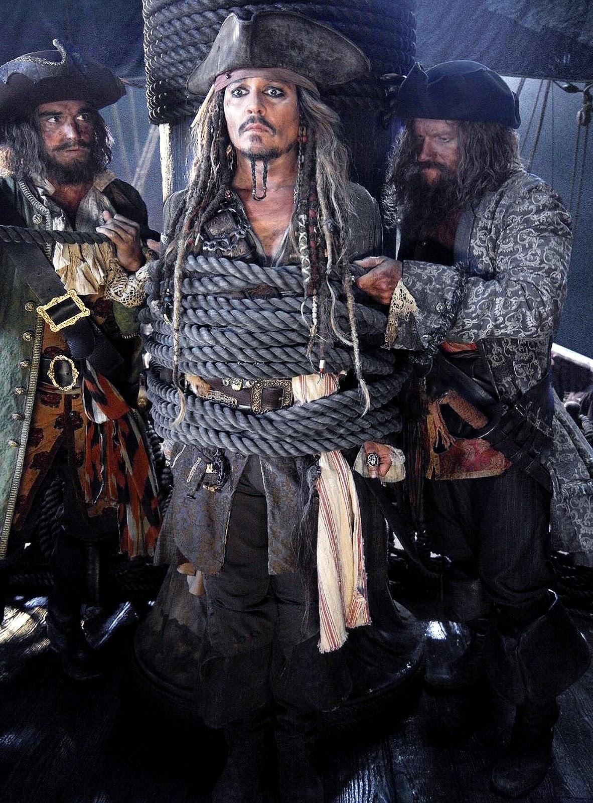 Căpitanul Jack Sparrow este capturat în prima imagine din Piraţii Din Caraibe 5