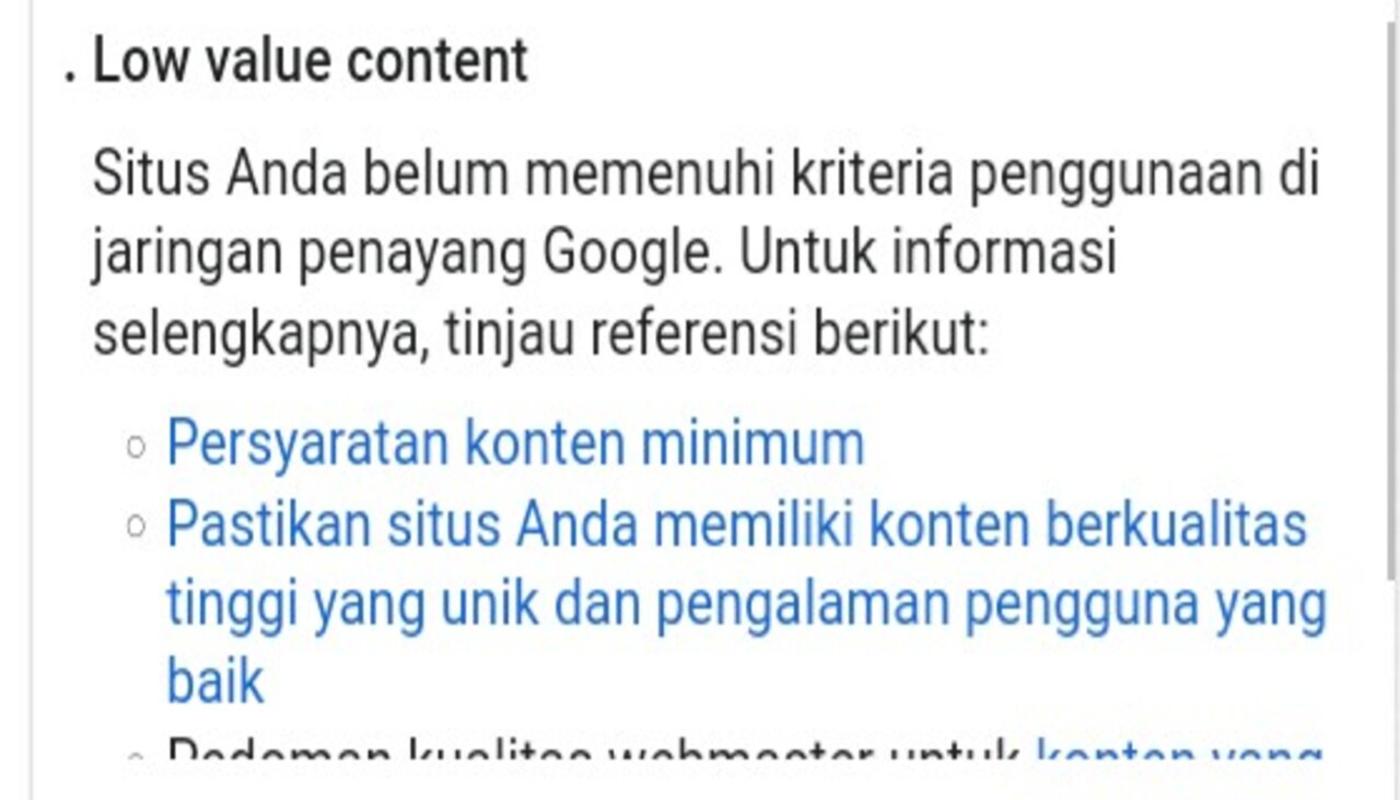 adsense-low-value-content