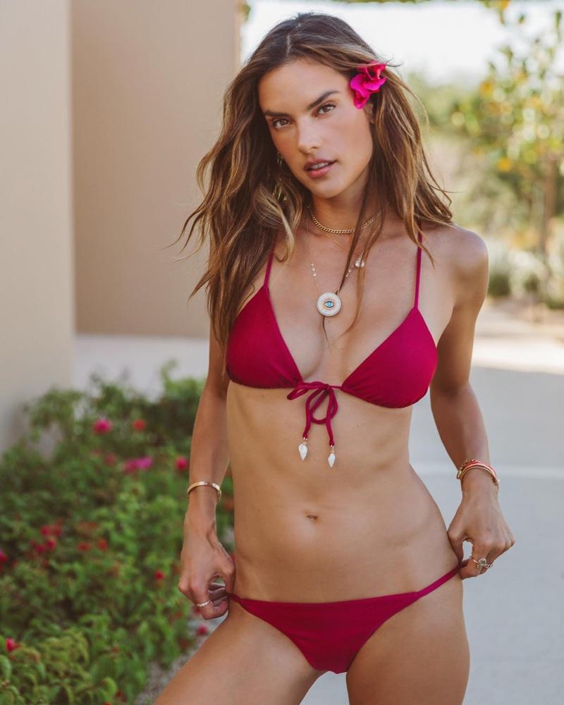 Alessandra Ambrosio poses in Gal Floripa Ethereal bikini collection.