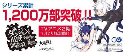 Light novel de DanMachi, Is It Wrong to Try to Pick Up Girls in a Dungeon? Chega a 12 milhões de cópias em circulação