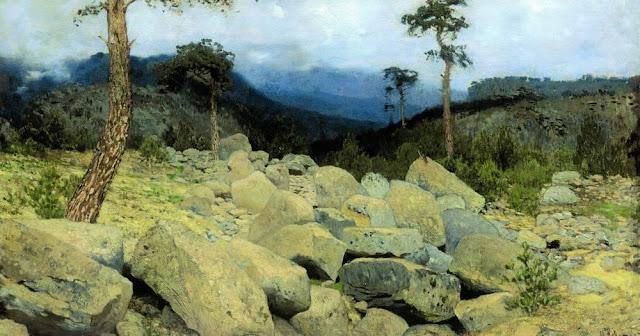 Исаак Ильич Левитан - В крымских горах (1). 1886