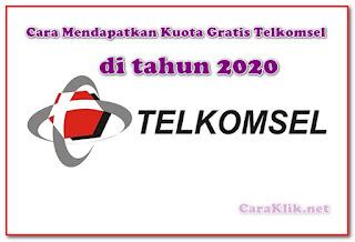 Cara Paling Baru Mendapatkan Kuota Gratis Telkomsel di Tahun 2020