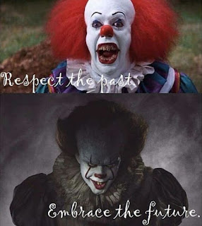 Pennywise Clown 1980's vs 2017 meme