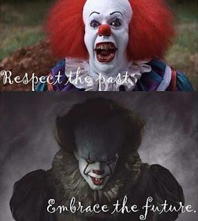 Pennywise Clown 1980's vs 2017 meme