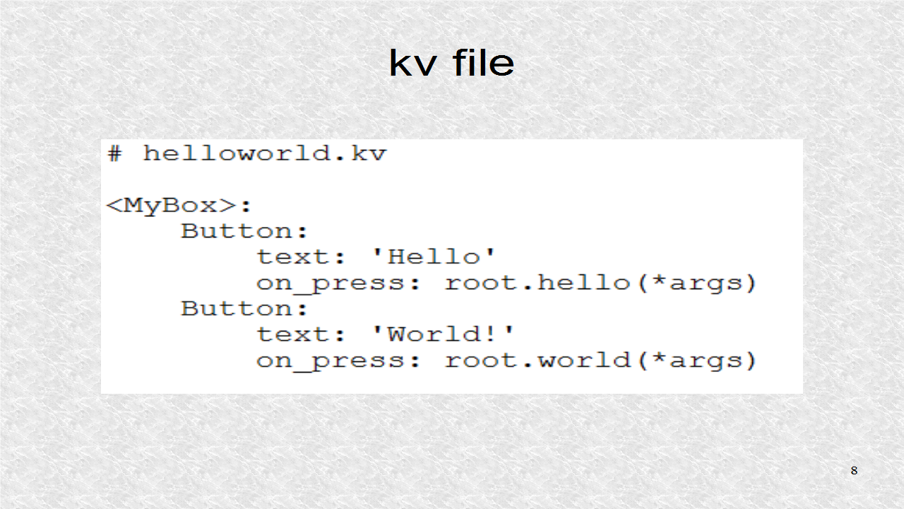Mobile Programming in Python: 4  Using the Kivy Language