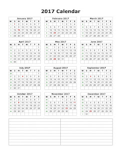 Printable Calendar 2017, Quarterly Calendar 2017, Beautiful image for printable 2017