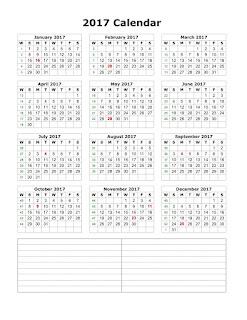 Printable Calendar 2017, Quarterly Calendar 2017, Beautiful image for printable 2017