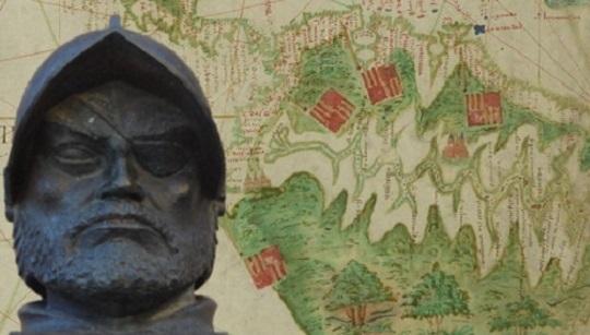 Descubrimiento del Amazonas por Francisco de Orellana Busto_Francisco_de_Orellana_mapa-Amazonas