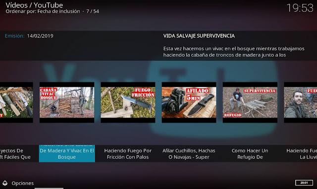videos VIDA SALVAJE y SUPERVIVENCIA