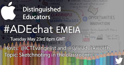 Sketchnoting for Educators with @SylviaDuckworth @ICTEvangelist #ADEchat