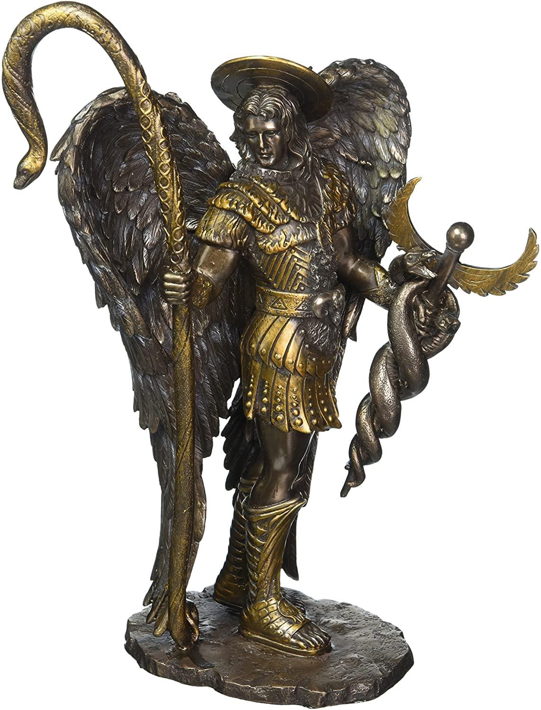 Estatuilla del Arcángel Rafael