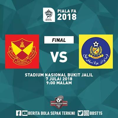 Live Streaming Selangor vs Pahang Final Piala FA Malaysia 7 Julai 2018
