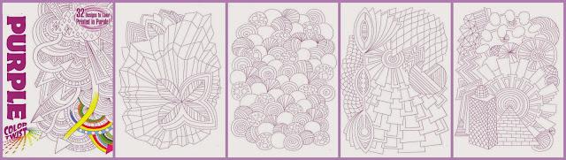 kleurboek paars