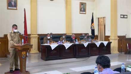 Genius Umar Sampaikan Nota Penjelasan Perubahan APBD Kota Pariaman 2021