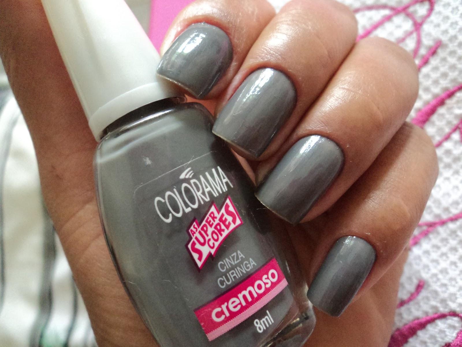 Resultado de imagem para esmalte cinza colorama