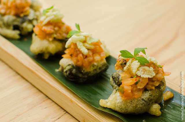 Ortiguillas Kimchi restaurante Navaja Madrid