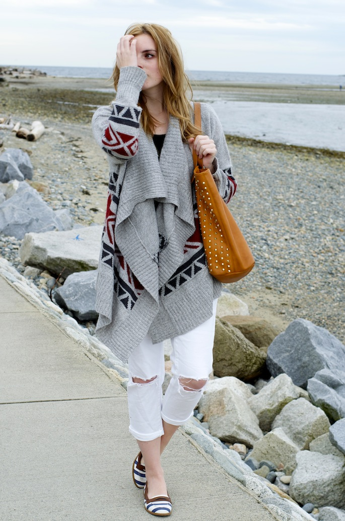 How to Style an Oversized Cardigan