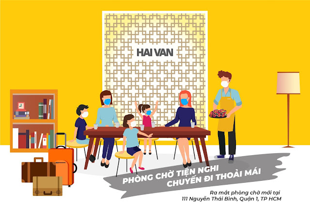 Hải Vân khai trương phòng chờ tại số 111 Đường Nguyễn Thái Bình- Quận 1- TP HCM