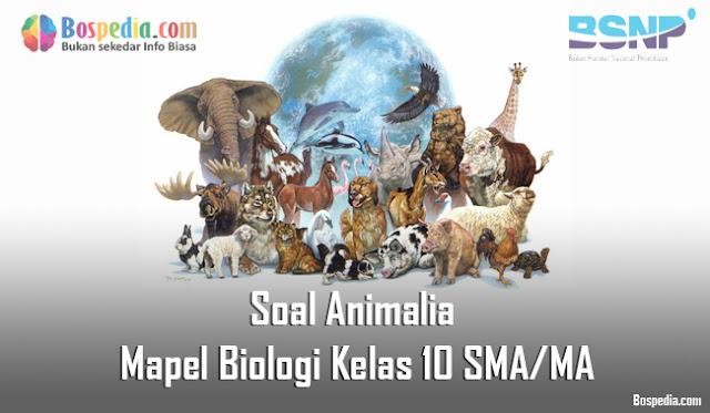 Soal Animalia Mapel Biologi Kelas 10 SMA/MA