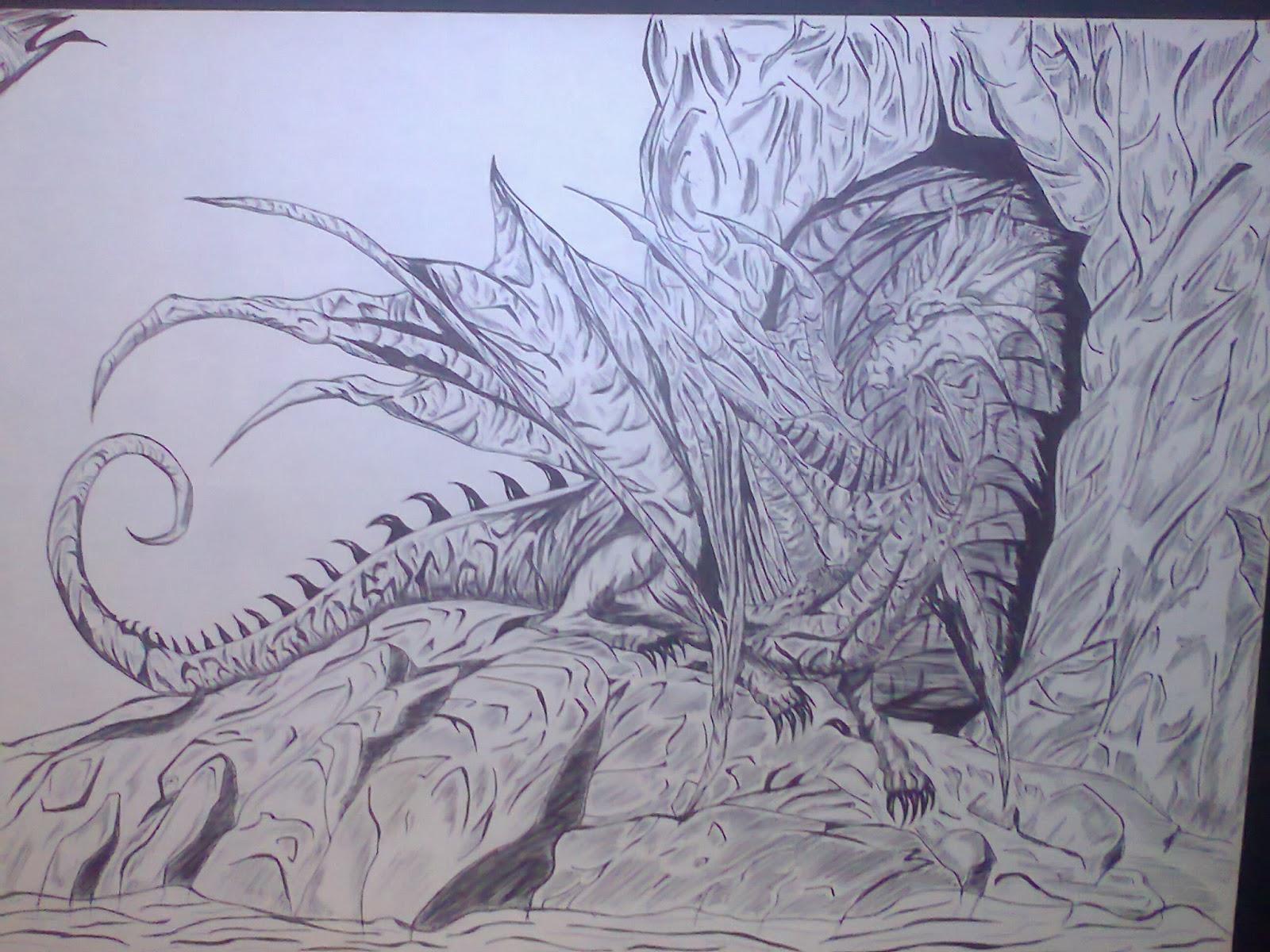 Dibujos De Dragones A Lapiz Dificiles Fondos De Pantalla