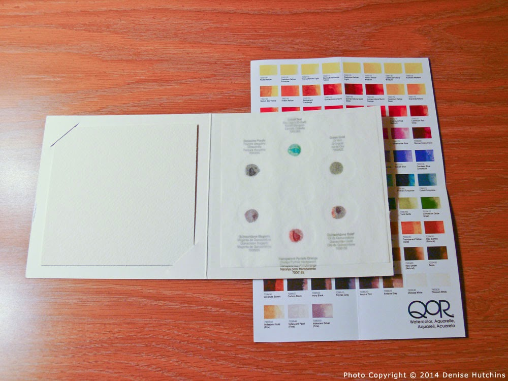 Sample Watercolor Palette with Watercolor Paper and Color List