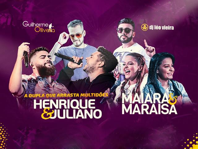 ARAGUARI: Dia 27/12 tem Show de Henrique & Juliano e Maiara & Maraisa
