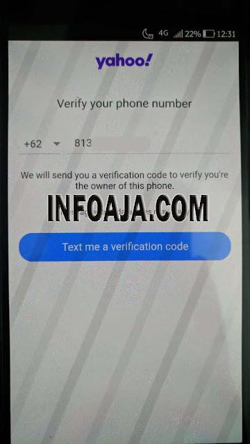 Verifikasi Nomor Hp Email Yahoo