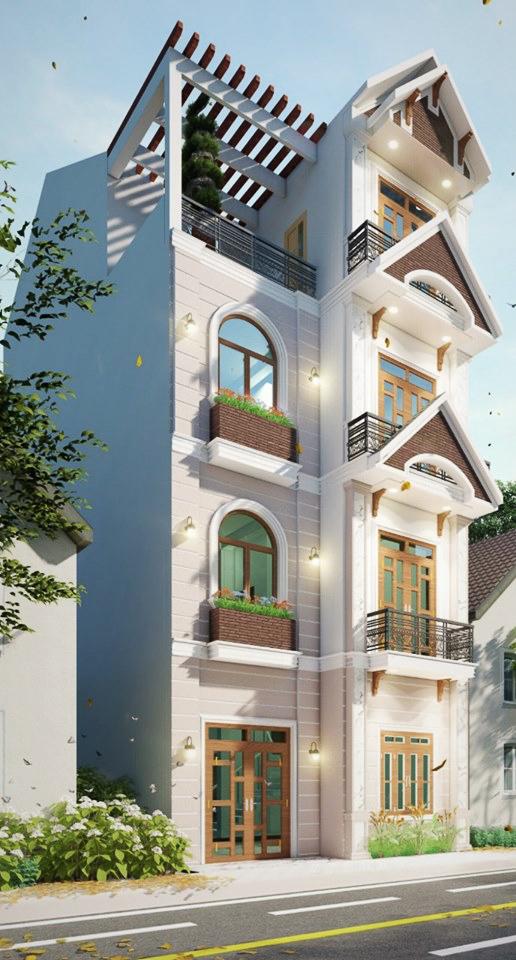 [Revit ]Bản vẻ nhà phố 4 tầng 7x13 mét Full