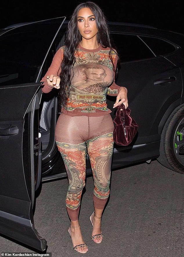 Kim Kardashian embraces vintage vibes in skintight 90s Jean Paul Gaultier