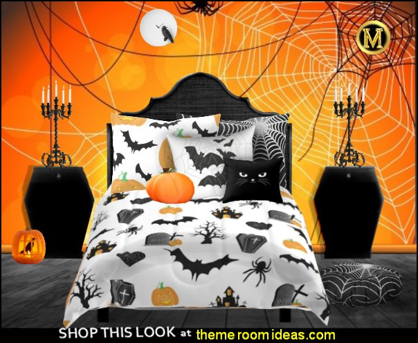 halloween bedding bats halloween pumpkins bedroom