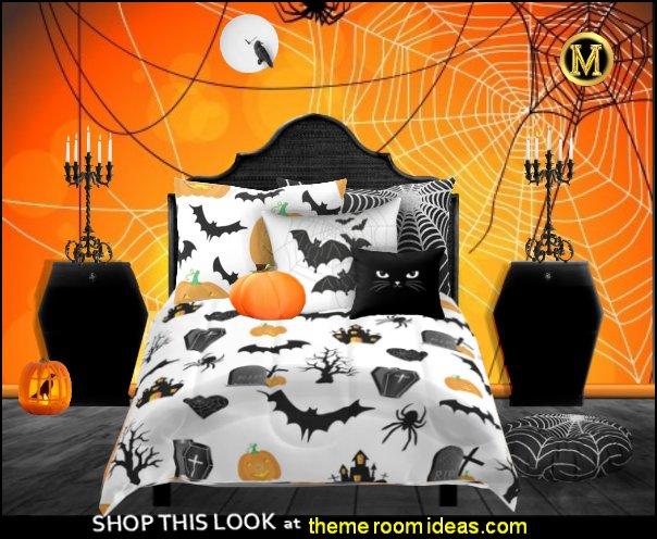 halloween bedding bats halloween pumpkins bedroom