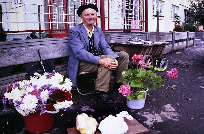 Visits to a market while Cycle Touring in Romania