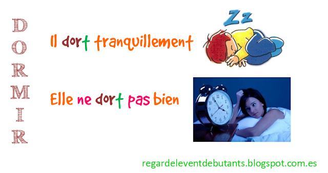 Czasowniki trzeciej grupy - czasownik dormir - zdania - Francuski przy kawie