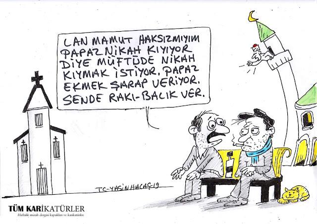 müftü nikahı karikatür