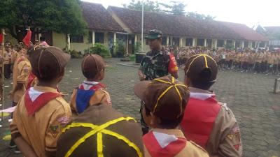 Babinsa Mojo Ikuti Pembukaan Pesta Siaga Kwarran Kecamatan Pasar Kliwon Tahun 2020