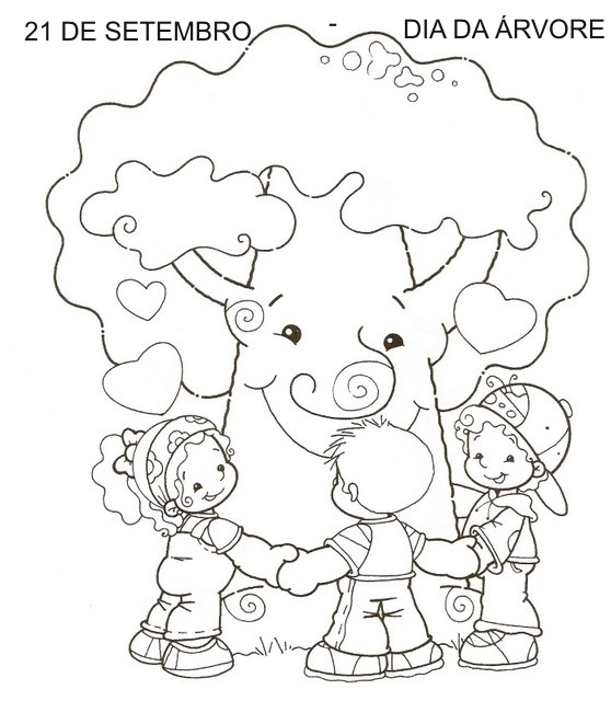 Desenho Do Dia Da Arvore Para Colorir Qdb