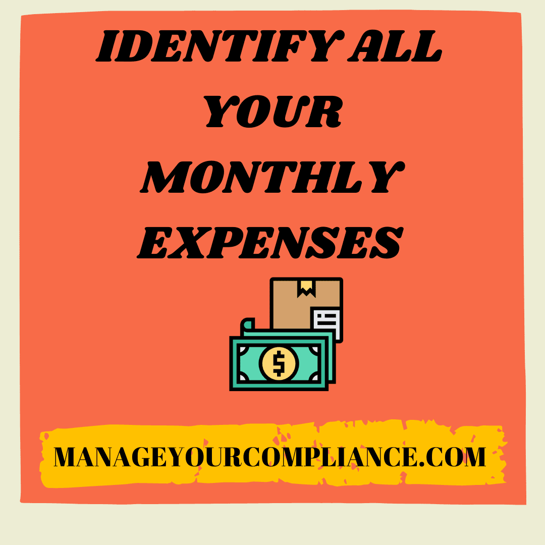 Identify all your monthly expenses is an important step to manage your finance in pandemic