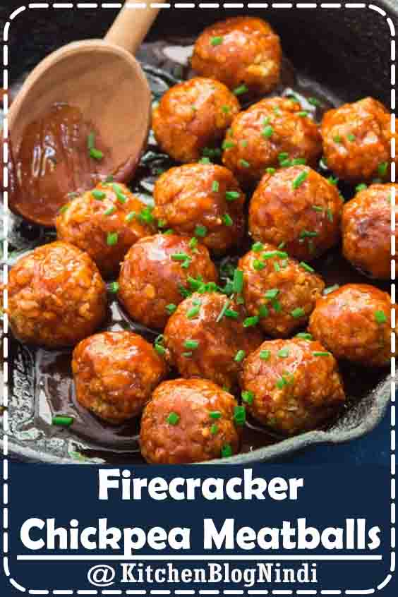 4.9★★★★★ | Firecracker chickpea meatballs. Mix bread crumbs and spices first to ensure spices are evenly distributed!! Very spicy. Try flipping water and hot sauce measures. #Firecracker #Chickpea #Meatballs