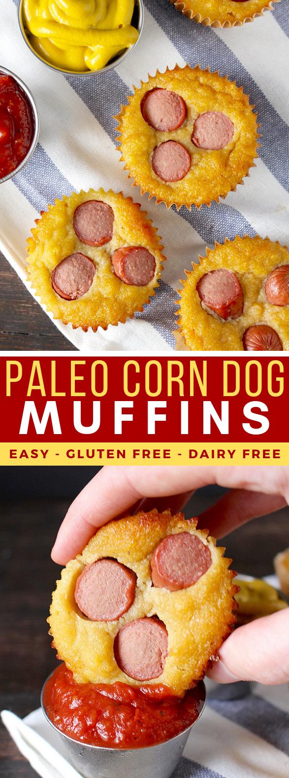 PALEO CORN DOG MUFFINS #healthy kidfriendly