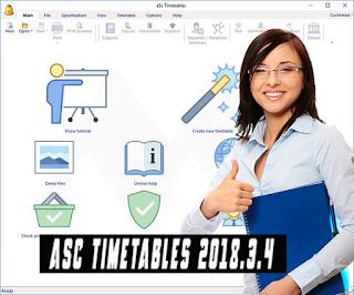 تحميل برنامج للمعلمين و الاساتذة  بمناسبة الدراسة aSc Timetables 2018.3.4 مع التفعيل