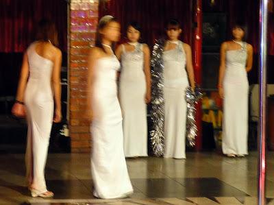eastern beauties in a Yangon nightclub