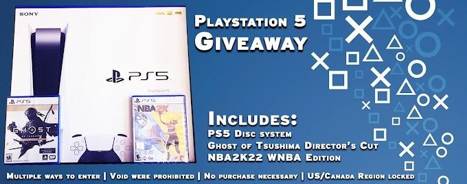Sorteio de um Playstation 5 + NBA 2K22 e Ghost of Tsushima