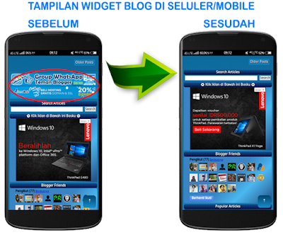 Cara Menyembunyikan Widget Blog di Tampilan Seluler/Mobile