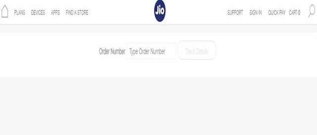 check JIO phone delivery status