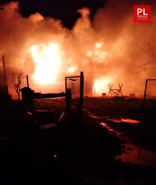 Incendio en sector Coelgual