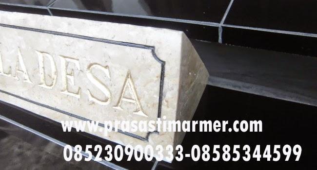Harga papan Nama marmer