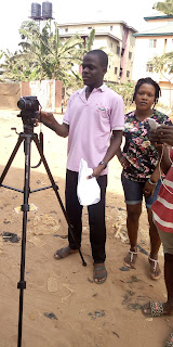 Saviosantos At a movie location shooting a film produced by Demezico Entertainment