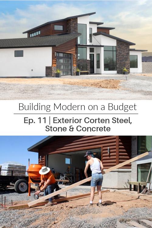 modern diy house home corten steel faux stone veneer concrete desert