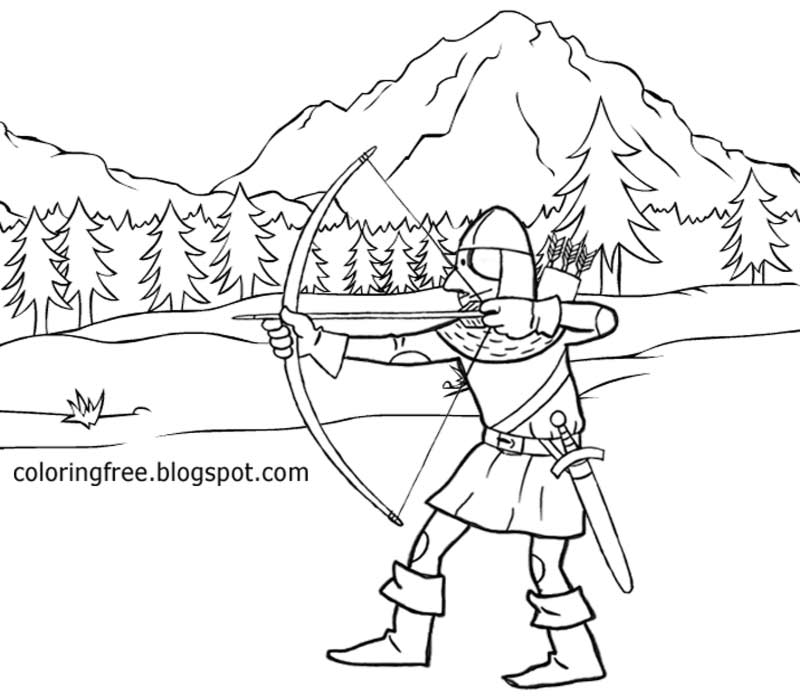 Middle Ages Monk Coloring Page